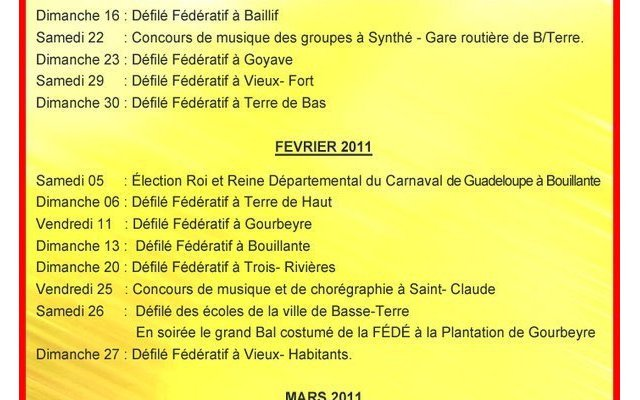 Guadeloupe : Le Carnaval 2011